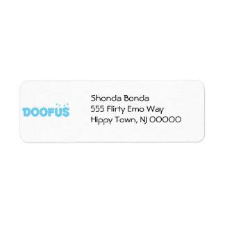 Pretty Blue Doofus Label