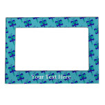 Pretty Blue Dragonflies Magnetic Frame