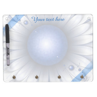 Pretty Blue Eyes Erase Board Key Holder