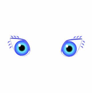 Pretty Blue Eyes Photo Cut Out
