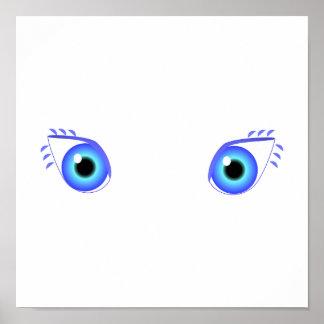 Pretty Blue Eyes Poster