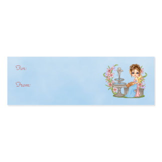 Pretty Blue Faery Pixel Art Double-Sided Mini Business Cards (Pack Of 20)