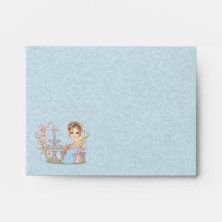Pretty Blue Faery Pixel Art Envelope