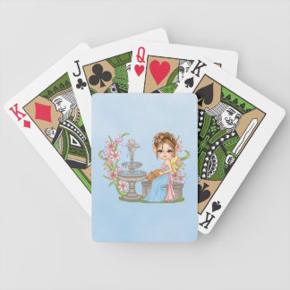Pretty Blue Faery Pixel Art Bicycle Playing Cards