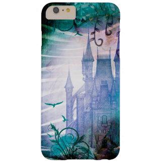 Pretty Blue Fairy Tale Fantasy Garden Castle Barely There iPhone 6 Plus Case