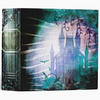 Pretty Blue Fairy Tale Fantasy Garden Castle Binder