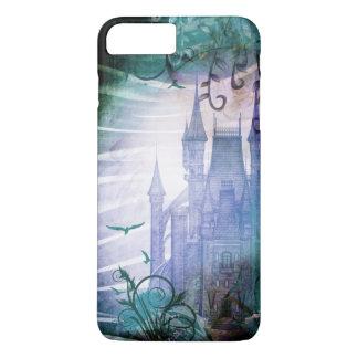 Pretty Blue Fairy Tale Fantasy Garden Castle iPhone 8 Plus/7 Plus Case