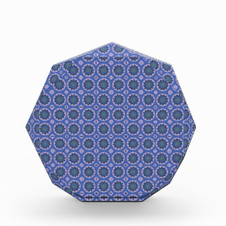 Pretty Blue Floral Pattern Award