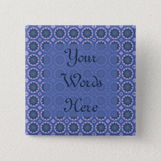 Pretty Blue Floral Pattern Button