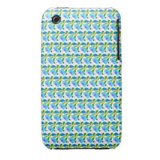 Pretty Blue Floral Pattern iPhone 3 Case-Mate Cases