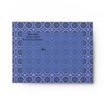 Pretty Blue Floral Pattern Envelope