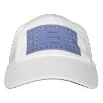 Pretty Blue Floral Pattern Hat