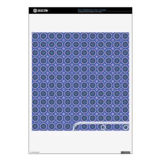 Pretty Blue Floral Pattern PS3 Slim Skin