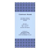 Pretty Blue Floral Pattern Rack Card