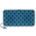 Pretty Blue Floral Pattern Travel Speaker