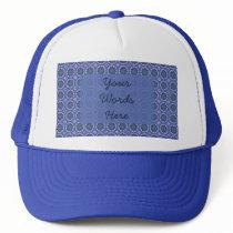 Pretty Blue Floral Pattern Trucker Hat