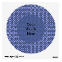 Pretty Blue Floral Pattern Wall Sticker
