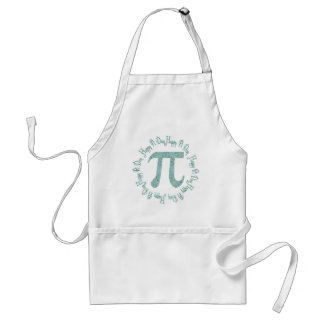 Pretty Blue Floral Pi Day Gifts and Tees Adult Apron