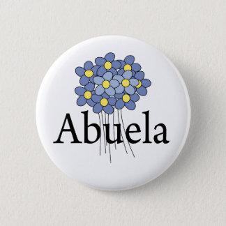 Pretty Blue Flower Abuela T-shirt Button