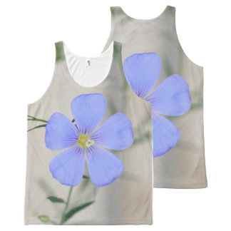 Pretty Blue Flower All-Over-Print Tank Top