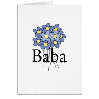 Pretty Blue Flower Baba T-shirt Card