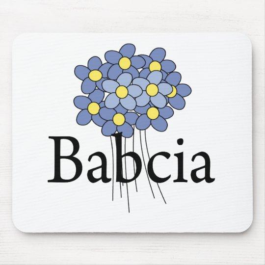 Pretty Blue Flower Babcia T-shirt Mouse Pad