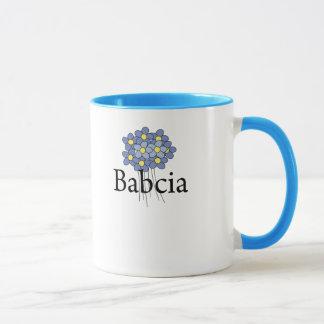 Pretty Blue Flower Babcia T-shirt Mug