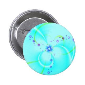 Pretty Blue Flower Button