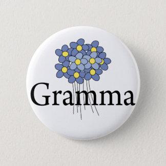 Pretty Blue Flower Gramma T-shirt Pinback Button