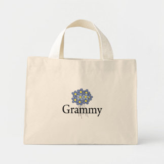 Pretty Blue Flower Grammy T-shirt Mini Tote Bag