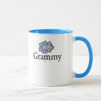 Pretty Blue Flower Grammy T-shirt Mug