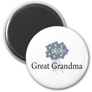 Pretty Blue Flower Great Grandma T-shirt Magnet