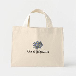Pretty Blue Flower Great Grandma T-shirt Mini Tote Bag