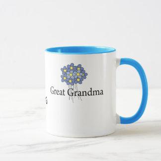 Pretty Blue Flower Great Grandma T-shirt Mug
