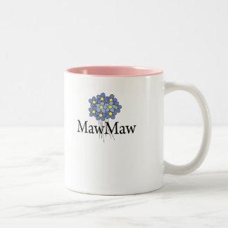 Pretty Blue Flower MawMaw T-shirt Two-Tone Coffee Mug
