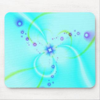 Pretty Blue Flower Mouse Pad