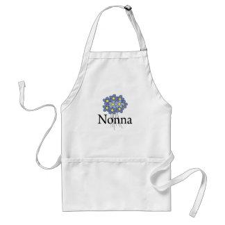Pretty Blue Flower Nonna T-shirt Adult Apron