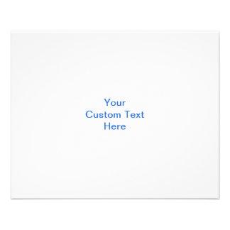 Pretty blue flower pattern on white. Custom Flyer