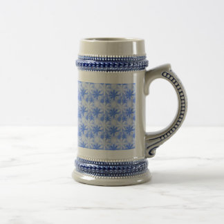 Pretty Blue Flowers Beer Stein