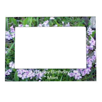 Pretty Blue Flowers for Mom's Birthday Magnetic Picture Frame