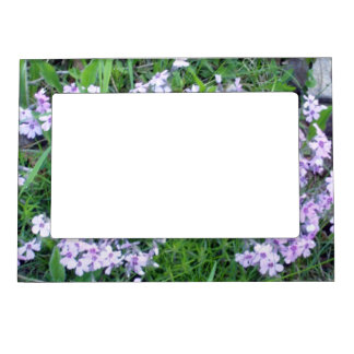 Pretty Blue Flowers Magnetic Picture Frame