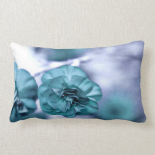 Pretty Blue Flowers Throw Pillow