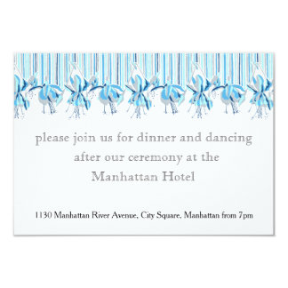 Pretty Blue Flowers Wedding Stationery Card