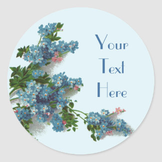 Pretty Blue Forget Me Nots Stickers