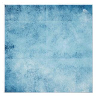Pretty Blue Frozen Skies Background Poster