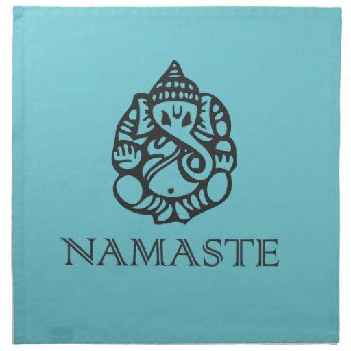 Pretty Blue Ganesh Design Cloth Napkins