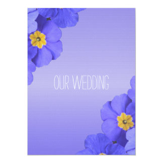 Pretty blue garden flowers Christian, religious 5.5x7.5 Paper Invitation Card