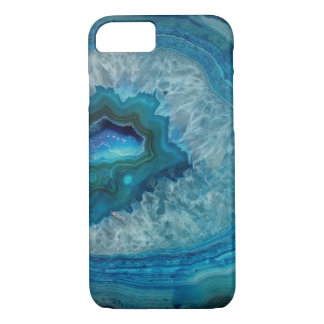 Pretty Blue Geode Gemstone Case