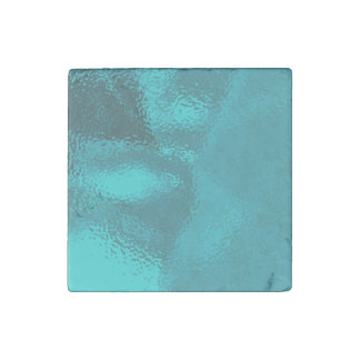 Pretty Blue Glass Design Stone Magnet