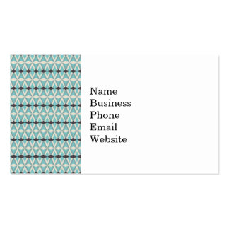Pretty Blue Gray Aztec Weaving Pattern Gifts Business Card Template